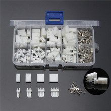 150PCS Male Female Assorted JST-XH 2.54mm Wire White Housing Connectors Set Jumper Pin Bare Terminals 2/3/4/5 Pins Assorted Kit