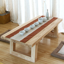 Simple small coffee table tatami old elm and room floor a few tables of solid wood teasideend