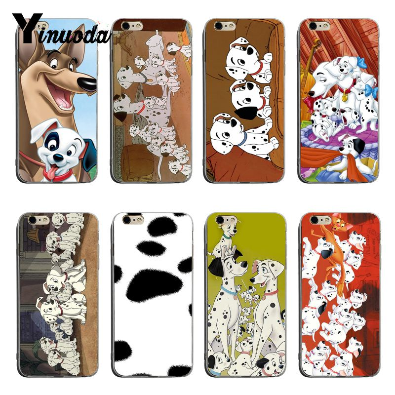 Yinuoda dalmatians wallpapers Hot selling fashion design skin thin tpu cell Case For iPhone 6plus 6s 7plus 8plus X XS XR Coque