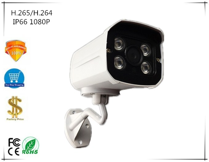 Sony IMX307 3516E IP Bullet Camera 1080P 25fps Outdoor Low illumination H 265 IP66 Waterproof ONVIF