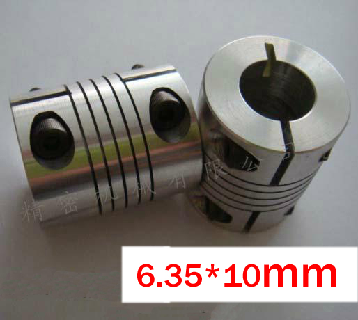 10pcslot 6.35x10mm CNC Motor Jaw Shaft Coupling 6.35mm to 10mm Flexible Coupler, 25mm OD 30mm length 25x30mm (D25 L30)