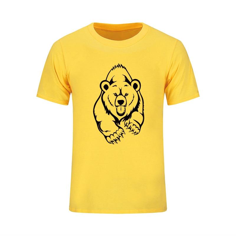 NUEVA Llegada Verano Grizzly Camiseta Hombre Oso Marrón Estampado - Ropa de hombre - foto 4
