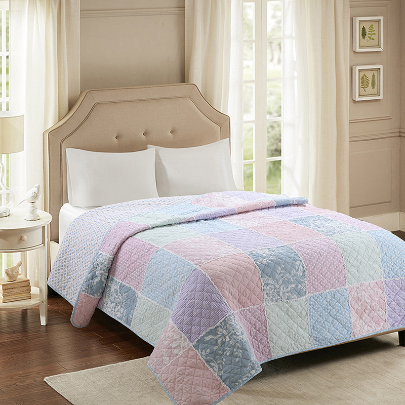 CHAUSUB Cotton Bedspread Quilt 1pc Coverlet American Handmade Patchwork Quilts Twin Size 150x200cm Quilted Sofa BlanketCHAUSUB Cotton Bedspread Quilt 1pc Coverlet American Handmade Patchwork Quilts Twin Size 150x200cm Quilted Sofa Blanket