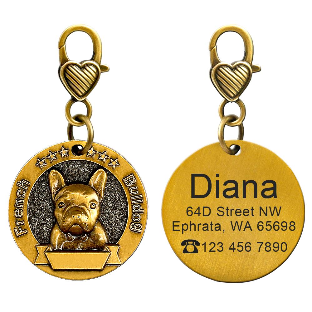 Placa de identificación de perro personalizada 6