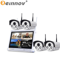 EINNOV 3pcs 4pcs 1 3MP CCTV System 1080P 4CH HD Wireless NVR Kit 1TB HDD Outdoor