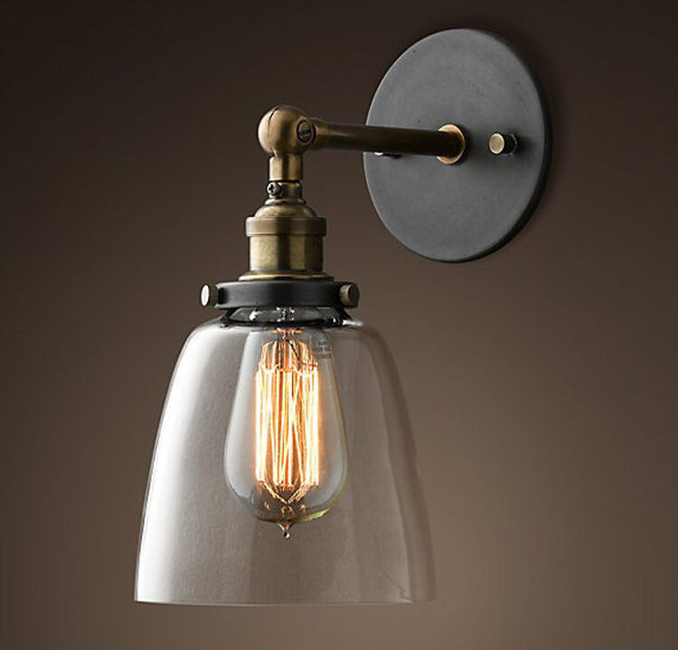 Modern Vintage Pendant Lights Industrial Wall Lamp Sconce Light Glass Clock Wall Lighting Lamp Elegant Home Decoration