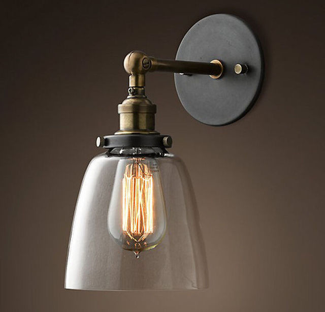 Modern Vintage Pendant Lights Industrial Wall L& Sconce Light Glass Clock Wall Lighting L& Elegant Home & Modern Vintage Pendant Lights Industrial Wall Lamp Sconce Light ...