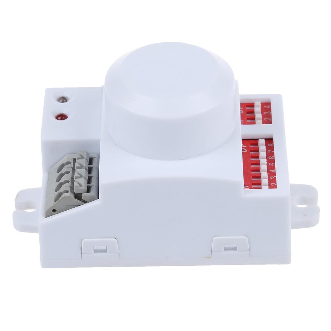 все цены на Microwave motion sensor switch Doppler Radar Wireless Module for lighting 220V - White онлайн