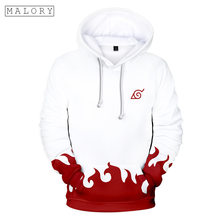 MALORY Naruto 3D color printing hoodies men 2018 hot sale naruto hoodie cosplay Anime style clothes Winter plus velvet gifts(China)