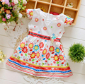 Baby Girls Floral Princess Dress Kids Dresses printed flower dress brand  0-3 years old red blue pink Toddler infant