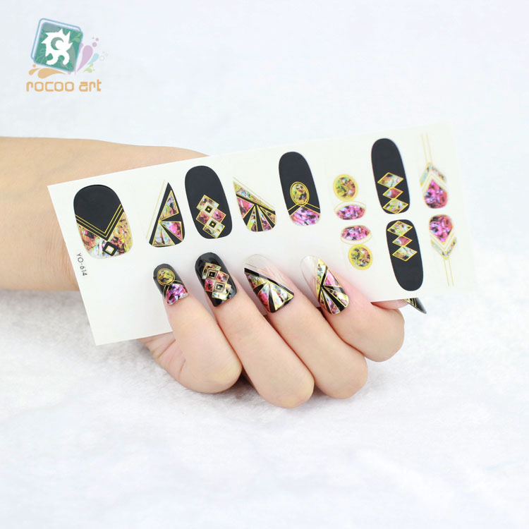 New Arrival 2016 Metal Laser Nail Wrap Sticker Self Adhesive Decal ...