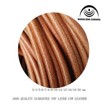 MADALENA SARARA 50 m/lote de cuero genuino superior cuerda de cuero vacuno cuerda 1mm 1,5 MM 2mm 3MM 4mm 5MM 6mm 7mm 8mm 9mm 10mm para hacer bricolaje