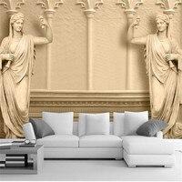 Classic 3D Custom Wallpapers European Sculpture Art Photo Murals For Living Room Backdrop Home Decor High