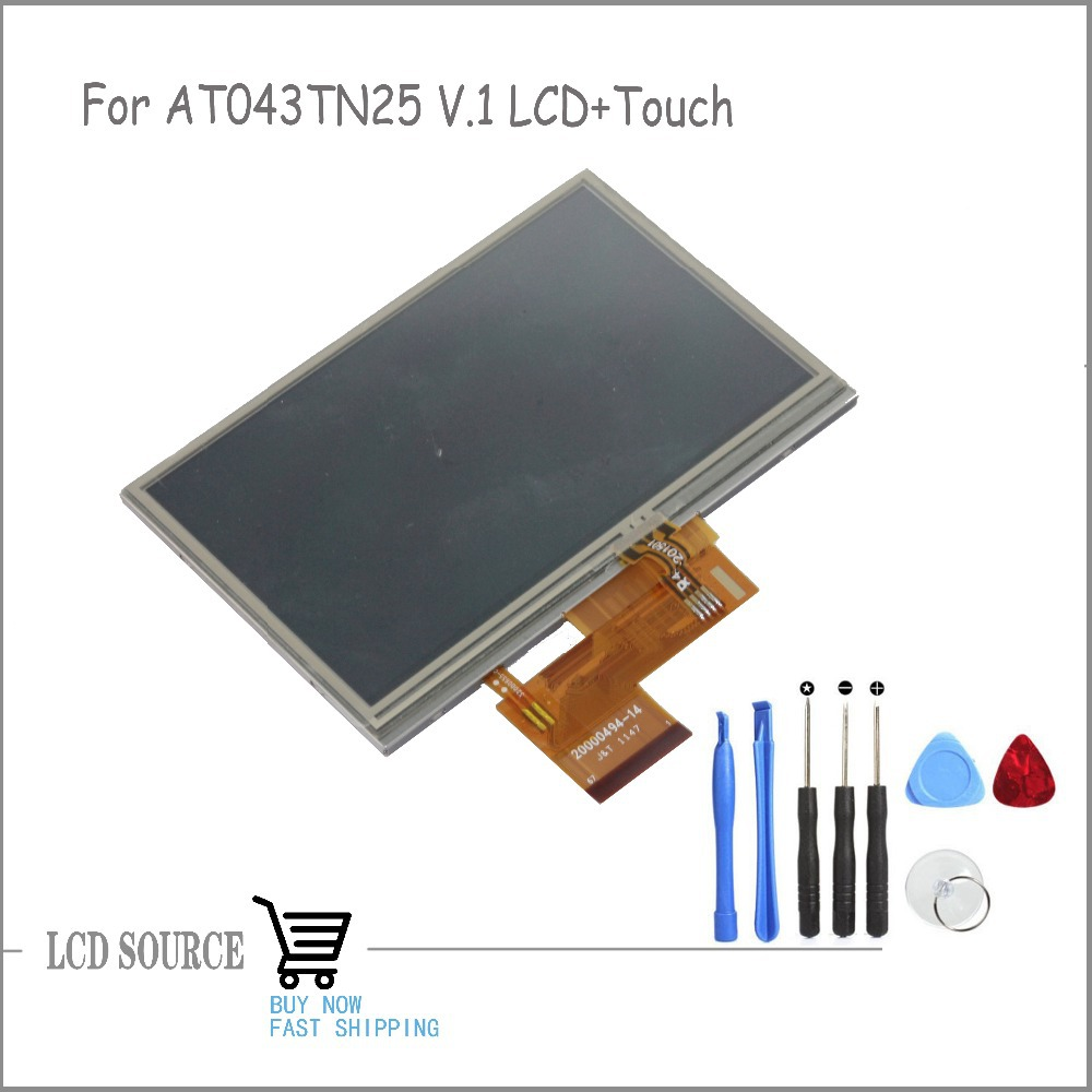 OEM 4.3 Inch For AT043TN25 V.1 LCD Display TFT LCD With Touch Glass Replacement Parts Free Tools
