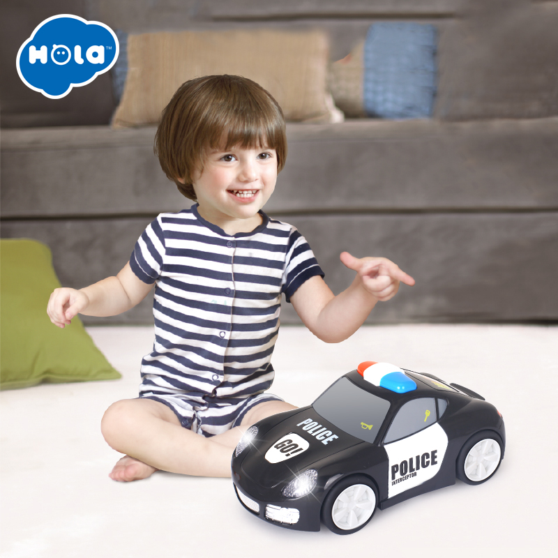 HOLA 6106A Baby Toys Vehicle Set with Lights and Music Plastic Simulation Toys Electric Pretend Toy for Children 24 month in Diecasts Toy Vehicles from Toys Hobbies