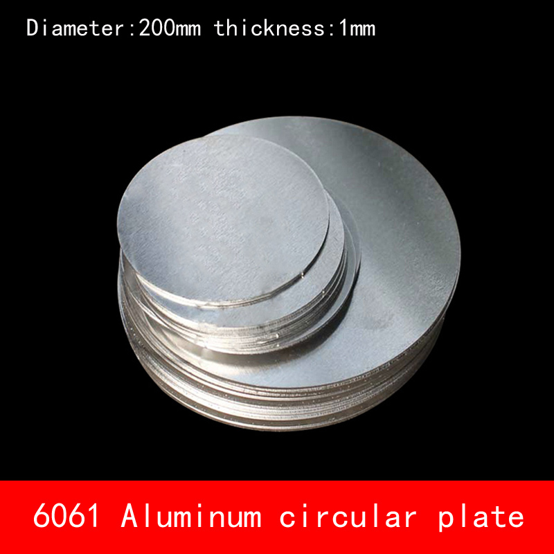 Diameter 200mm*1mm circular round Aluminum plate 1mm thickness D200X1MM custom made CNC laser cutting 16 inch traditional china cymbals 40cm in diameter thickness 1mm professional musical instruments