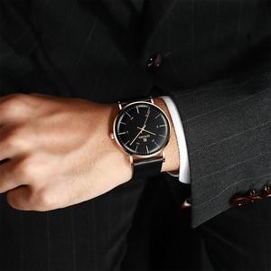 Image 2 - RECOMPENSA de 2019 Novos Homens Da Moda Relógios Top Marca de Luxo Homens Relógio Ocasional Ultrafino À Prova D Água Esporte relógio de Pulso Relogio masculino