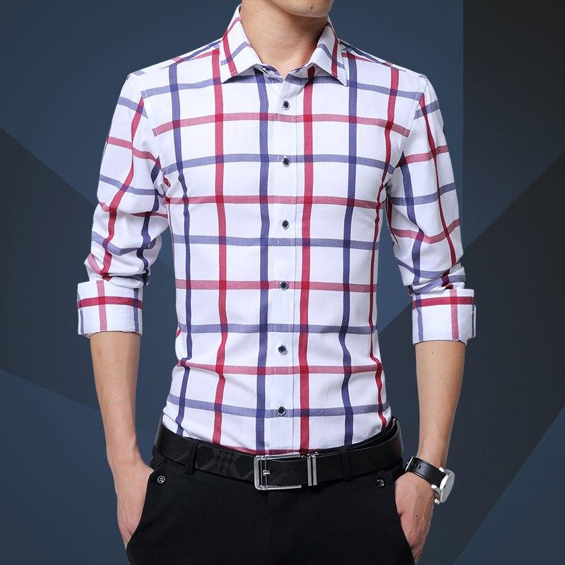 Kvaliteetne meeste ruuduline särk pikkade varrukatega puuvillane - Meeste riided - Foto 2