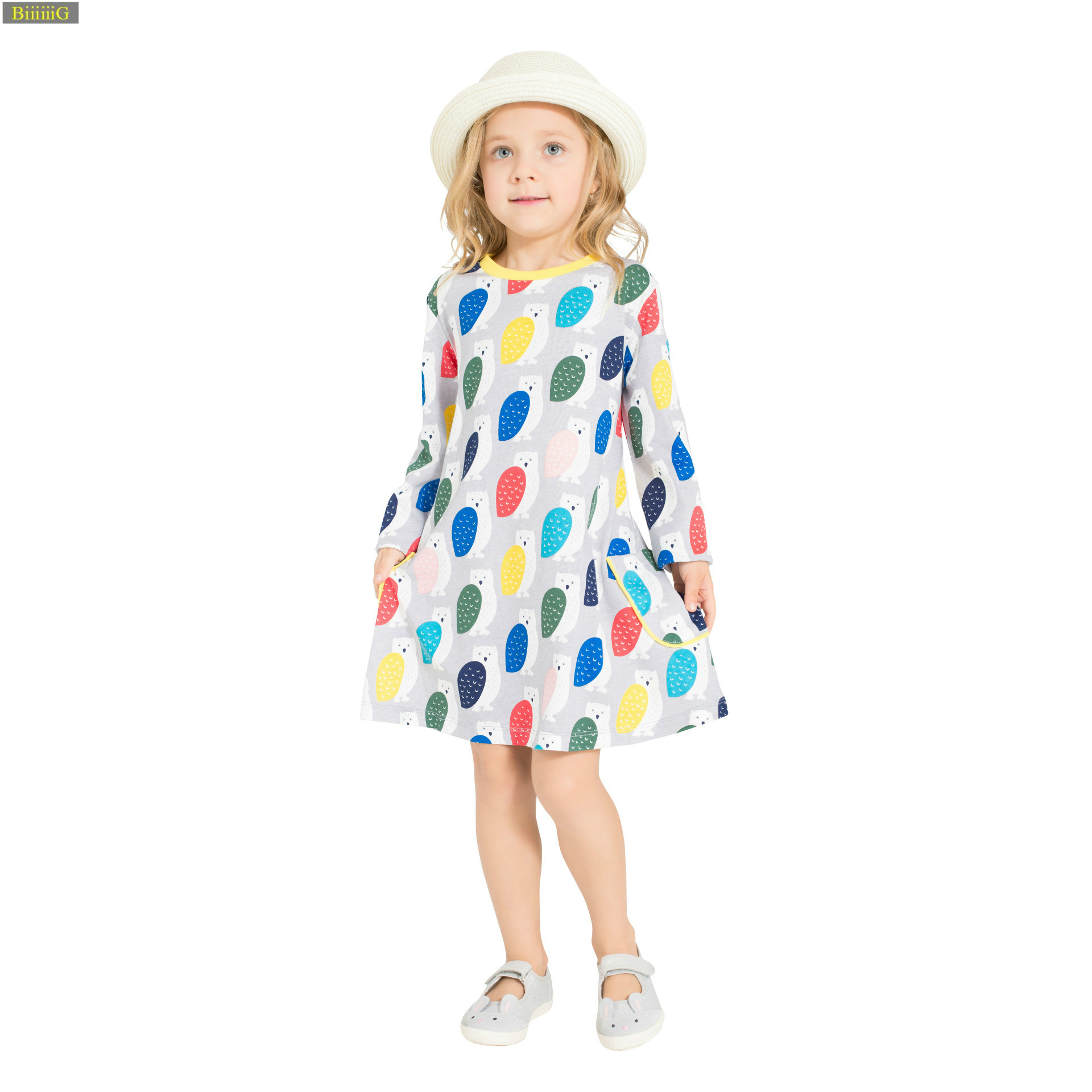 Little Bitty pure cotton children dress baby girl dinosaur dress summer dresses for girls party dress girl toddler kids clothes baby girl casual dress summer pure cotton 100