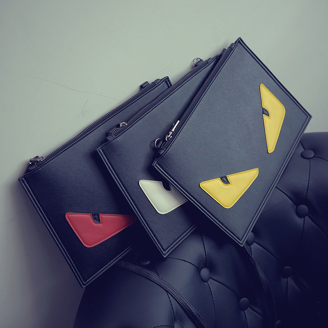 Day clutches 2017 women's handbags female shoulder bag women cross-body bags envelope little monster personality women bag sac