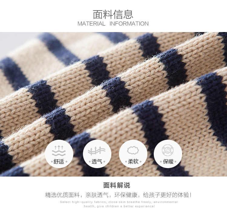 2017 venta al por menor nueva ropa para niños suéter para bebés niños a rayas bolsillo cinco estrellas diseño completo Casual cuello en V prendas de vestir y abrigo ropa para niños