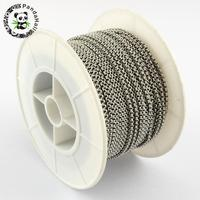 Unwelded 304 Stainless Steel Cross Rolo Chains for Jewelry Making DIY, Stainless Steel Color, 2.5x1mm; about 25m/roll