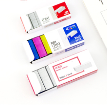 No.10/12 Colorful Stapler Book Staples Stitching Needle 1.2 cm 800Pcs/box Office Supplies