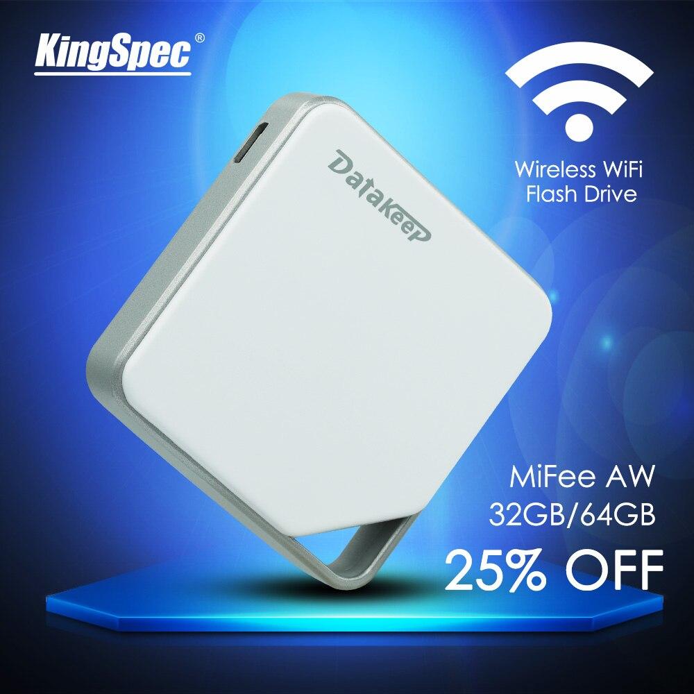 Prix pour Kingspec datakeep mifee sans fil portable disque dur externe-wifi usb flash drive pour iphone, samsung, Android, etc.