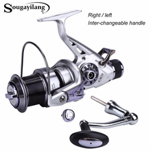 Sougayilang KM50-60 Spinning Reel 5.2:1 Gear Ratio Right Left Hand Interchangeable Fishing Coil Reel 11+1BB Feeder Carp Reel