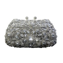 2016 einzigartige Diamante Silber Handtasche Kristall Abendtasche Partei Diamant Verzierte Handtaschen