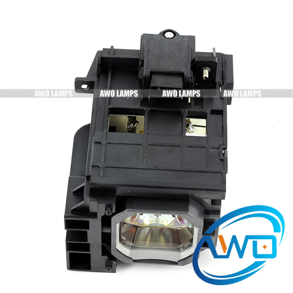 AWO Hot Sales NP06LP Free Shipping Projector Lamp with Housing for NEC NP1150/NP1200/NP1250/NP2150/NP2200/NP2250/NP3150/NP3151 uhp330 264w original projector lamp with housing np06lp for nec np 1150 np1250