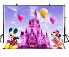 7x5ft Backdrop Cute Cartoon Mickey Mouse Photography Background and Studio Props