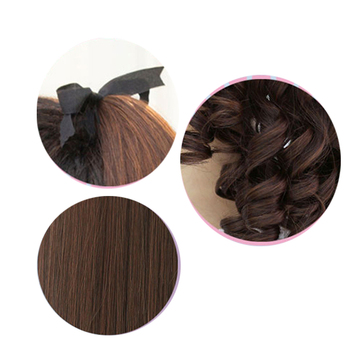 SHANGKE Short Curly Ponytails Clip In Fake Hair Extensions Natual Clip In Hair Tails Heat Resistant Synthetic Ponytail 5