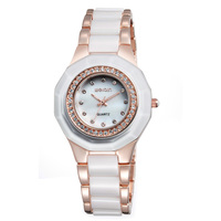 WEIQIN Fashion Black Watch Shell Dial Rhinestone ladies Wrist Watches Quartz Womens Watches Waterproof Watch for Women w4761