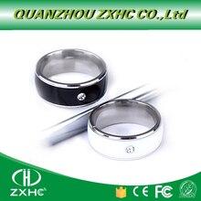 Novo anel de titânio material branco ou preto à prova dnágua inteligente magia nfc anel inteligente para android telefone nfc para homem ou