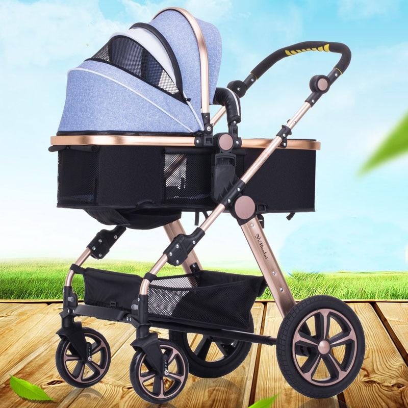 9 kleuren lichtgewicht aluminiumlegering luxe kinderwagen hoge - Activiteit en uitrusting voor kinderen - Foto 3