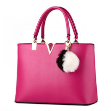 Korean Fashion Famous Designers Brand font b Handbags b font Large Women Bags Solid Pu Leather