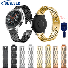 22mm stainless Steel band for Samsung Gear S3 Frontier classic Watchband for Samsung Galaxy Watch 46mm Strap with Adjust Tool