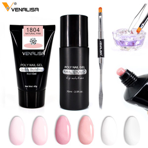 Image 2 - Venalisa Poly Nail Gel Nail Art French Nail Constraction Builder Jelly Brush Acrylic Clearnser Plus Remover Slip solution