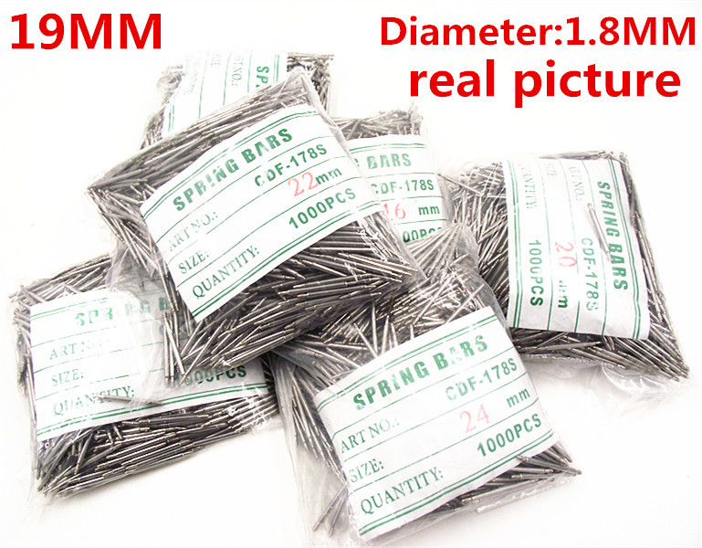 Wholesale 1000PCS / Bag High Quality Watch Repair Tools & Kits 19MM  Spring Bar Watch Repair Parts Diameter 1.8MM - BS831