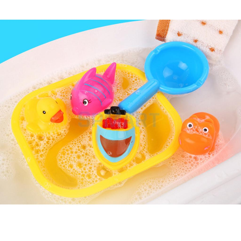 6pcs Baby Fun Float Rubber Duck Fish Animals Bathtime Toys Kids ...