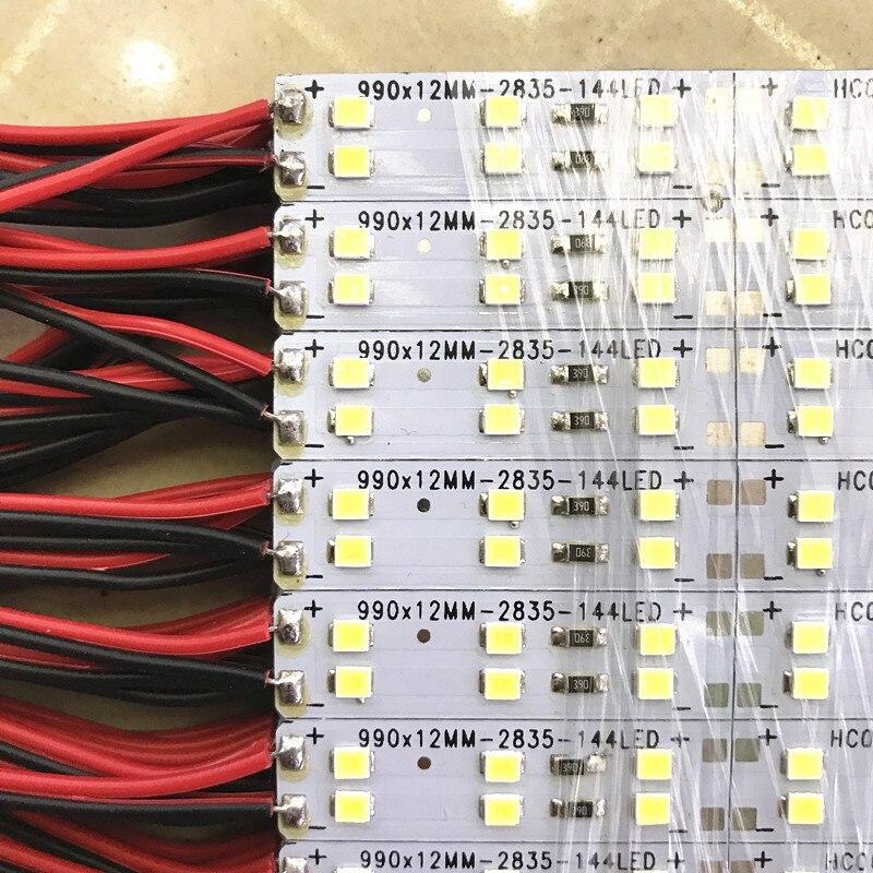 Llevó la luz del Bar 2835 72led/pc 144 leds/M luz rígida de la barra del Led doble línea 12 V luz de tira llevada rígida 10 unids/lote 50 cm/unids