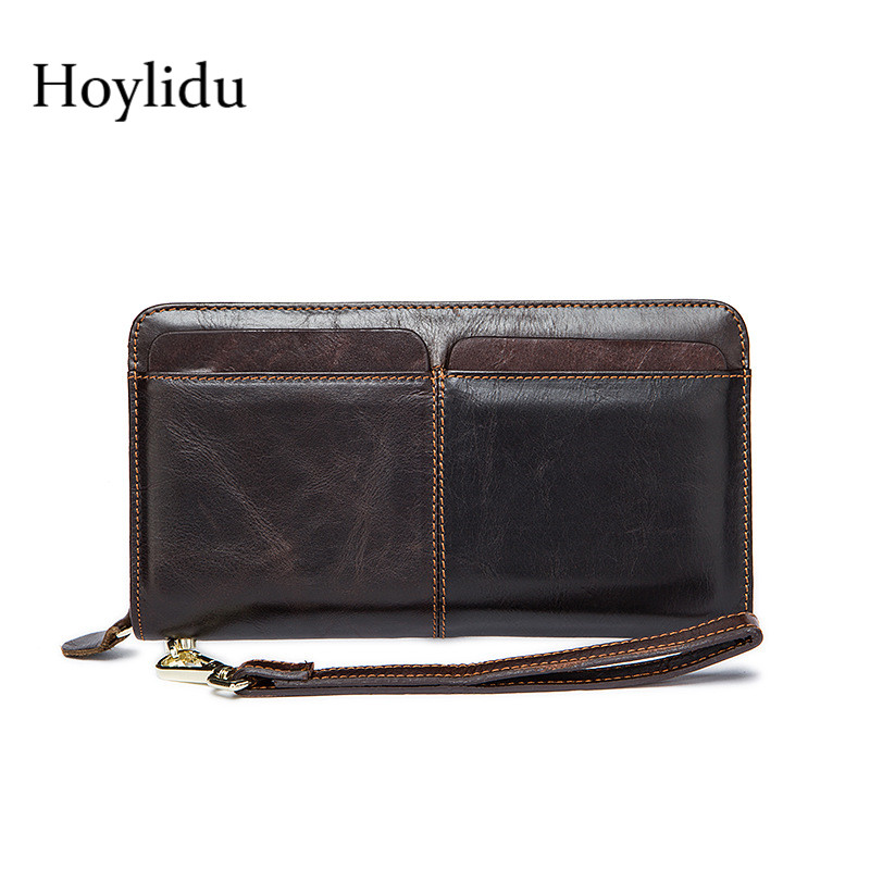 Card holder Leather Wallet Men Long Design Quality Passport Cover Fashion Casual Mens Purse Zipper Multi-function Coin Purse
