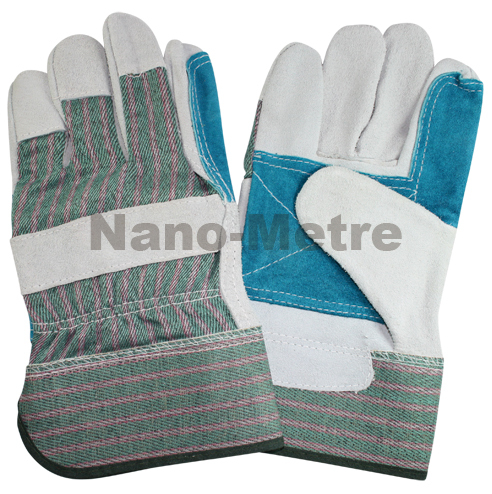 NMSAFETY Fashion 1 Pairs leather welding gloves en388 good quality paste safety cuff