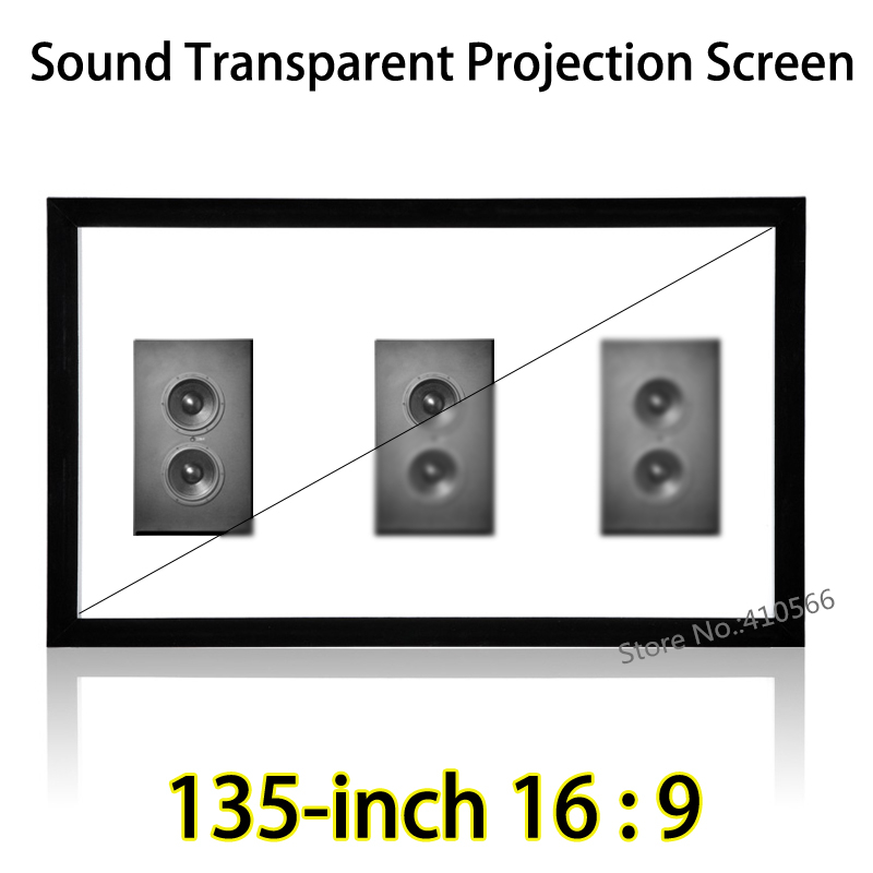 Affordable 1080p Cinema Projector Screen Acoustically Transparent Fabric 135inch 16 To 9 Fixed Frame Screens full hd 190 inch 16 9 curved fixed frame front projection screen with 1 2 gain 3d cinema projector screens
