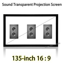 Korzystnym cenowo sklepie 1080 p kina projektor ekran akustycznie przejrzystym komponentem z tkaniny 135 cal 16 do 9 stałych ekrany ramy