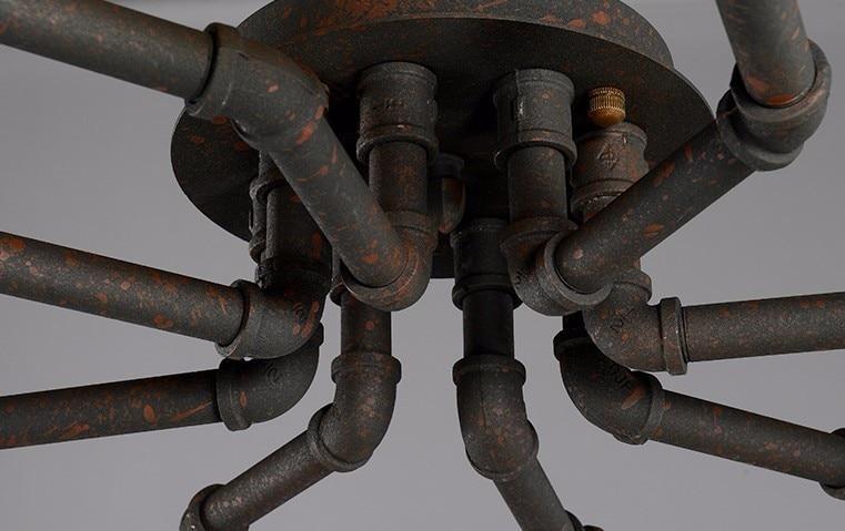 água rústico aranha lâmpada do teto loft