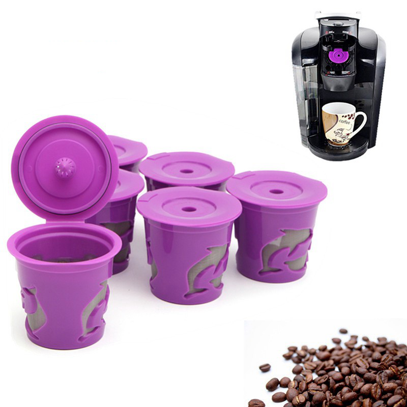 6pcs refillable coffee filter kcarafe kcup pod spoon set for keurig 20