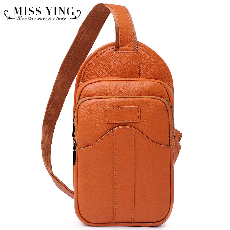 100% First Layer Of Cowhide Genuine Leather Chest Pack Bag For Lady Leather Fashion Crossbody Bags Women Messenger Handbags