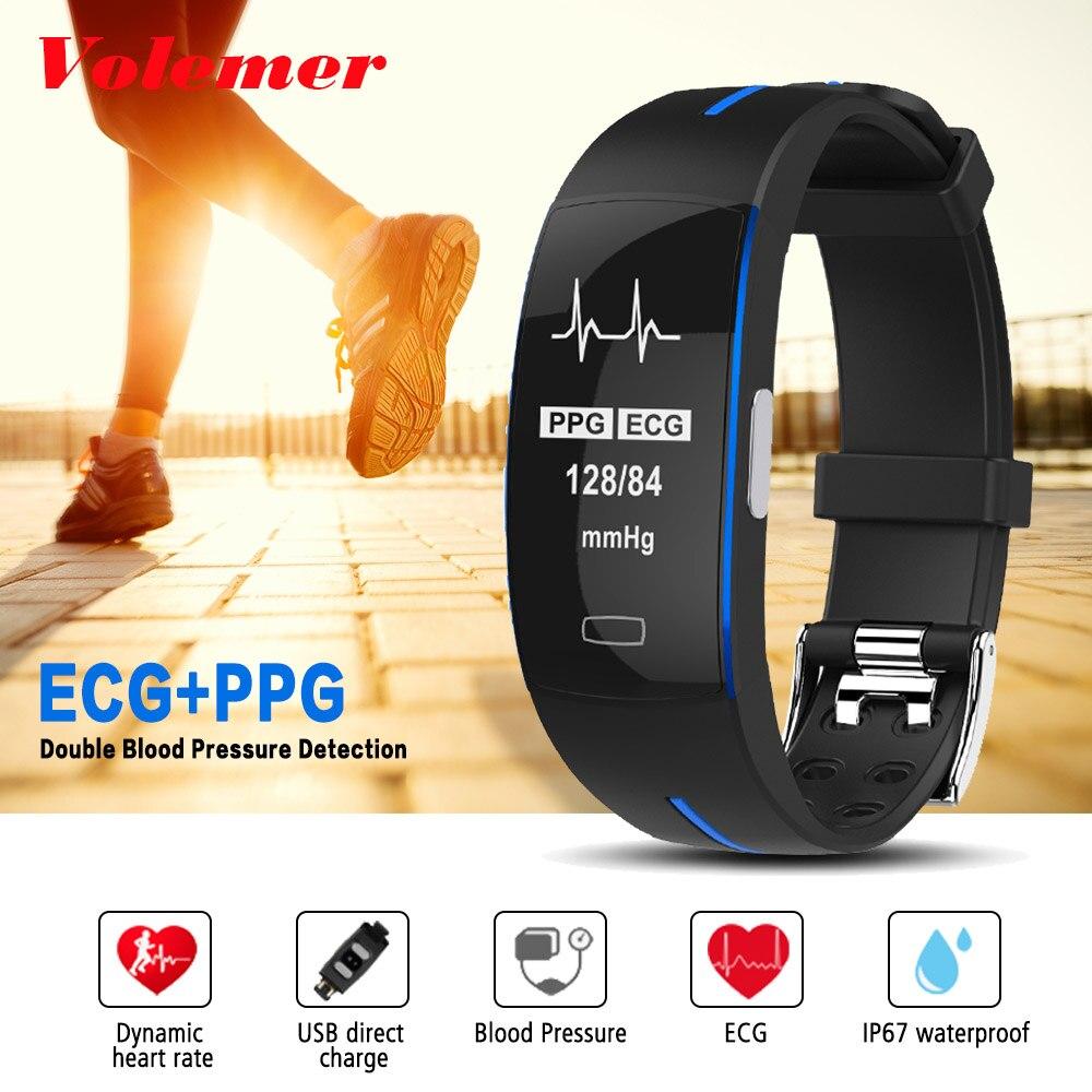 Volemer P3 Bracelet montres intelligentes pression artérielle Smartband podomètre SmartWatch Fitness activité Tracker GPS Bracelet intelligent